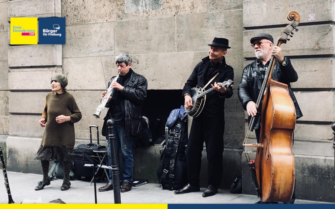 Antrag: Straßenmusik im Gemeinderat behandeln