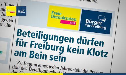 Amtsblatt: Beteiligungen dürfen für Freiburg kein Klotz am bein sein