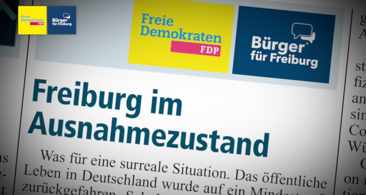 Amtsblatt: Freiburg im Ausnahmezustand