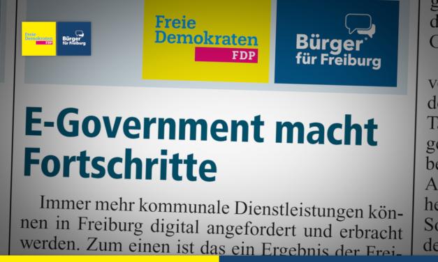 Amtsblatt: E-Government in Freiburg macht Fortschritte