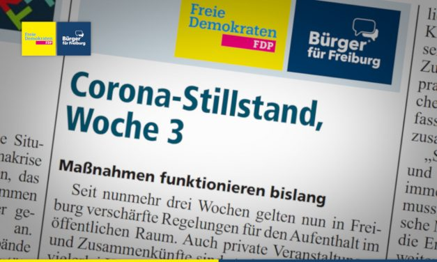 Amtsblatt: Corona-Stillstand, Woche 3