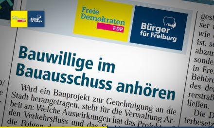 Amtsblatt: Bauwillige im Bauausschuss anhören
