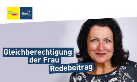 Redebeitrag: Claudia Feierling zum Bericht der Stelle zur Gleichberechtigung der Frau