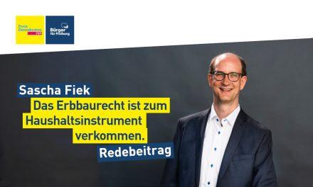 Sascha Fiek zur Erbbaurechtsverwaltung in Freiburg
