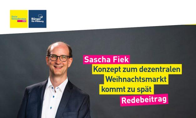 Sascha Fiek zum Konzept für einen entzerrten Weihnachtsmarkt