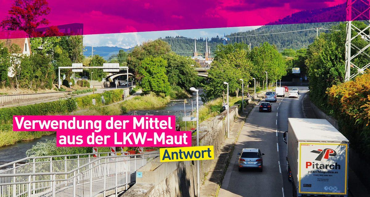 Antwort: Verwendung der LKW-Maut in Freiburg