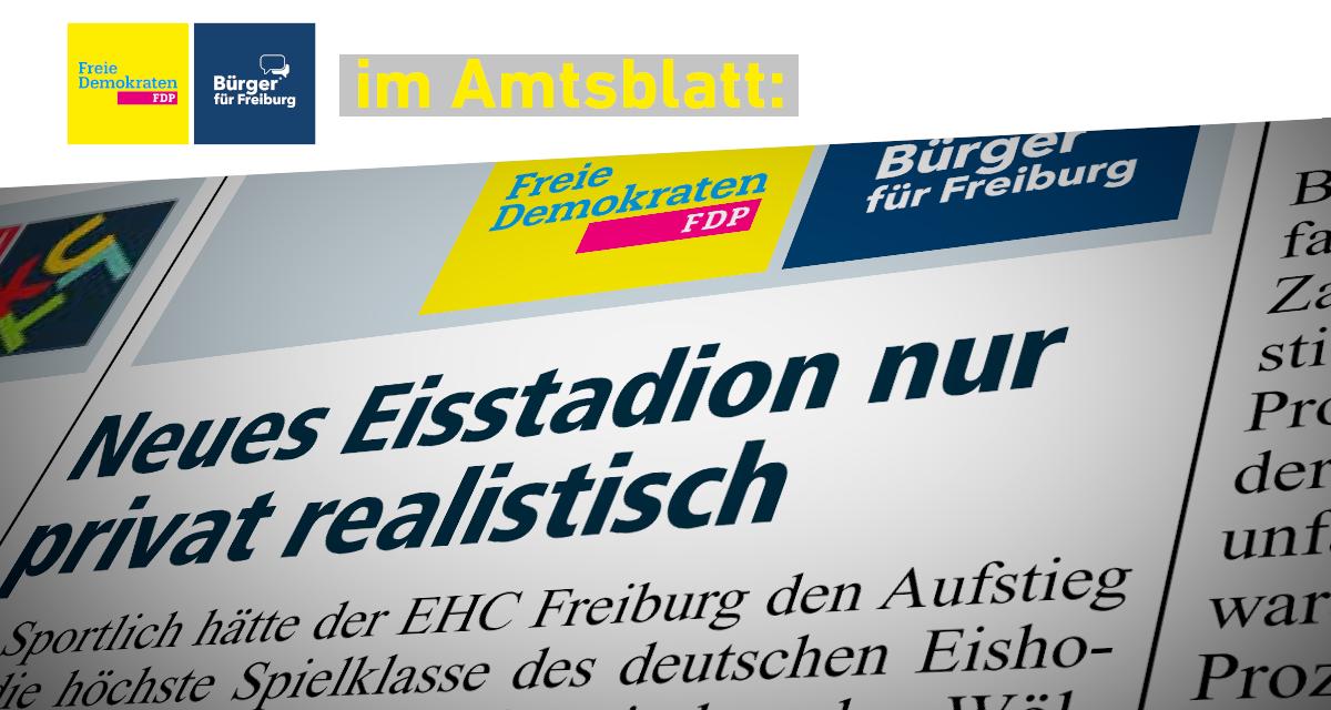 Amtsblatt: Neues Eisstadion nur privat realistisch