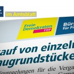 Amtsblatt: Verkauf von einzelnen Erbbaugrundstücken
