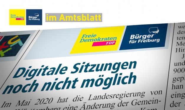 Amtsblatt: Digitalisierung der Kommunalpolitik noch nicht in Freiburg angekommen