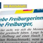 Amtsblatt: Frohes Fest in schwierigen Zeiten
