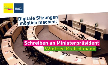 Digitale Gremiensitzungen: Schreiben an Winfried Kretschmann