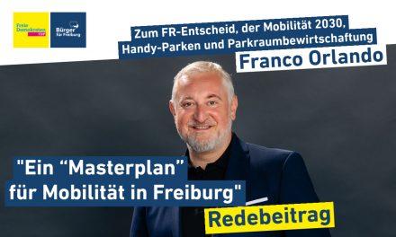Redebeitrag: Franco Orlando zur Zukunft der Mobilität in Freiburg
