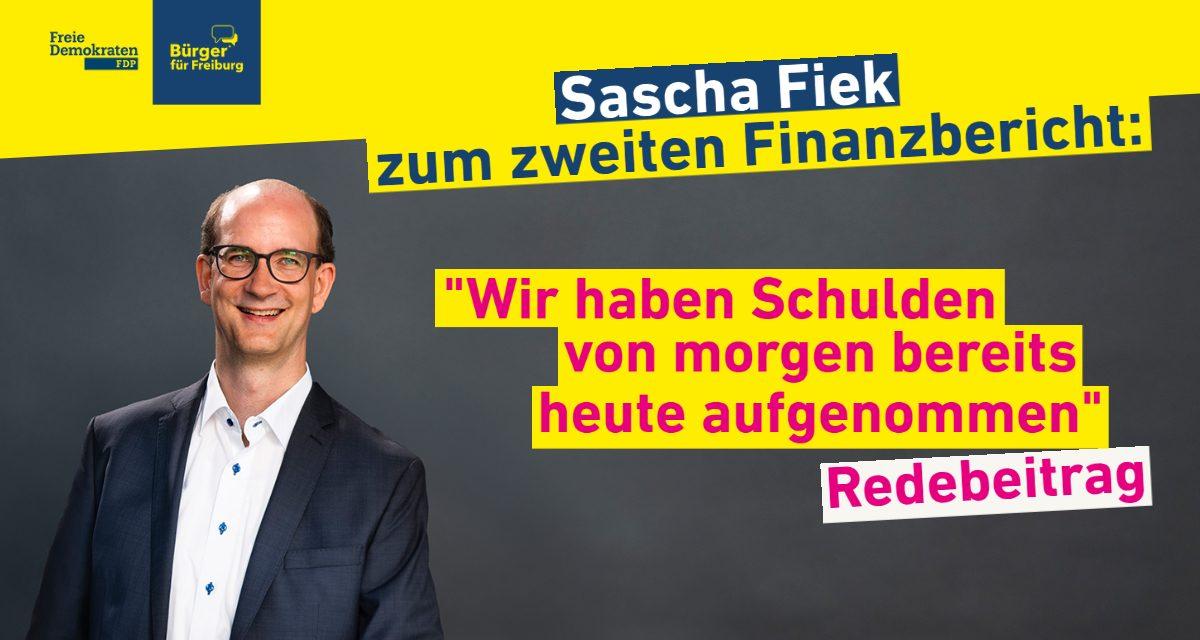 Redebeitrag: Sascha Fiek über den zweiten Finanzbericht 2020