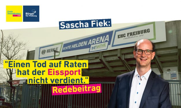 Redebeitrag: Sascha Fiek über die Zukunft des Eissports in Freiburg