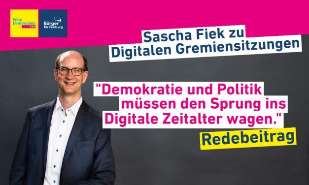 Redebeitrag: Sascha Fiek über Digitale Gremiensitzungen