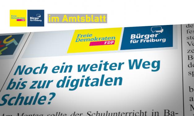 Amtsblatt: Digitale Schulen & Sichere Kreuzungen