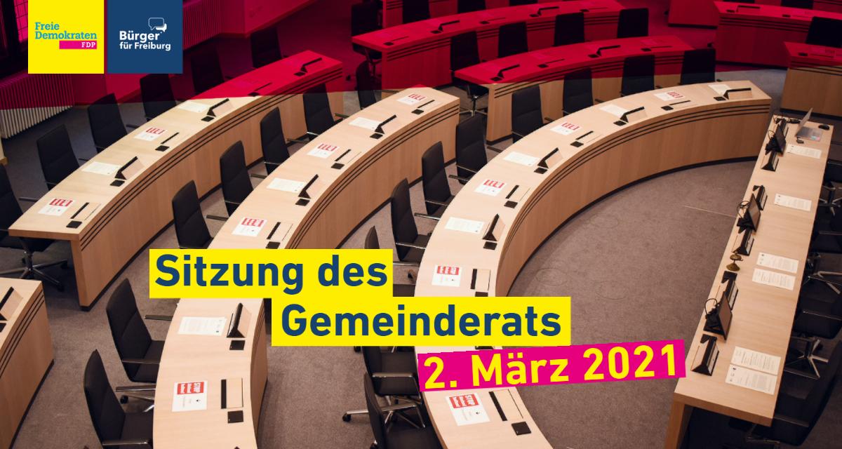 Gemeinderatssitzung: 2. März