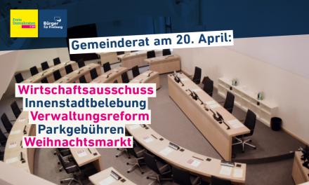 Gemeinderatssitzung: 20. April