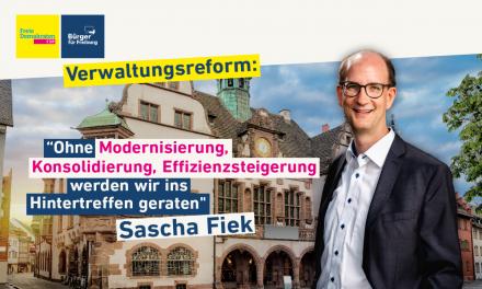 Redebeitrag: Sascha Fiek zur Verwaltungsreform