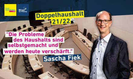 Haushaltsrede von Sascha Fiek