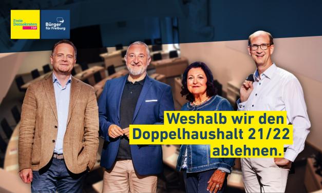 FDP&BFF lehnt Haushalt ab