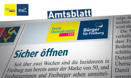 Amtsblatt: Sicher Öffnen in Freiburg