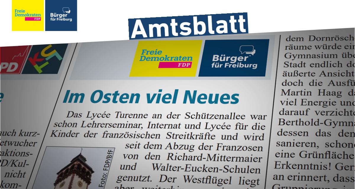 Amtsblatt: Lycée Turenne und Gehwegparken