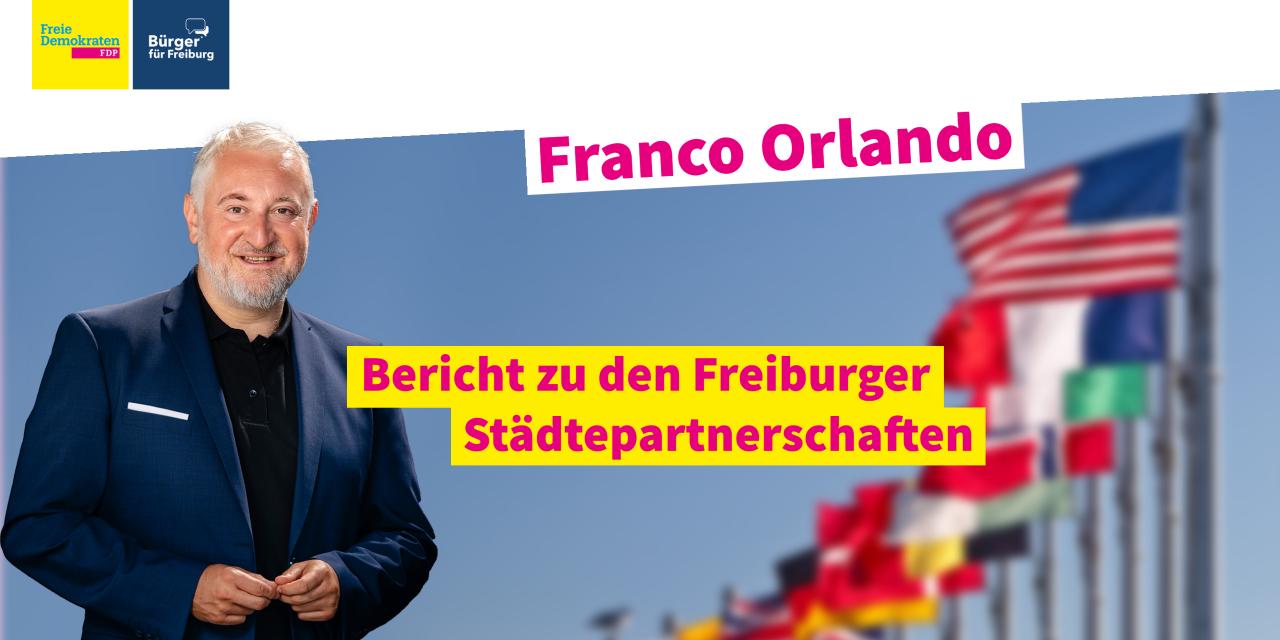 Franco Orlando zu den Städtepartnerschaften